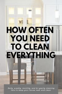 How often clean everything in house