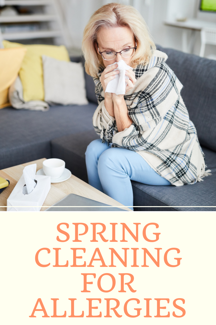 An image showing the benefits of spring cleaning for allergies